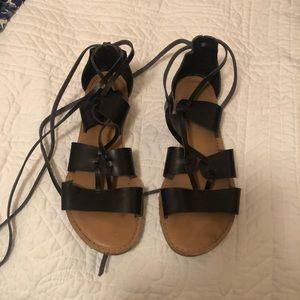 Old Navy Black Gladiator Sandals